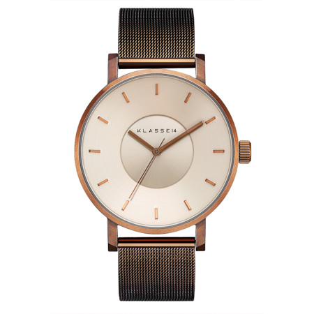 Volare Vintage Gold with Mesh Strap 42mm
