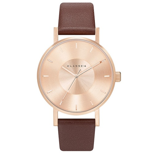 Volare Rose Gold Brown Leather 36mm